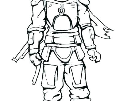 boba fett coloring page # 58