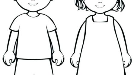 body outline child drawing parts coloring clipart male draw children sketch pages printable easy drawings clipartmag paintingvalley