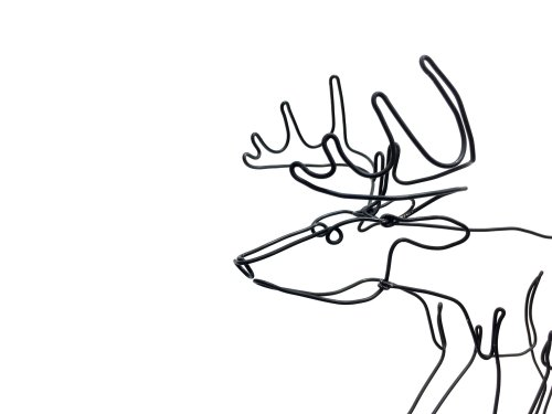 small resolution of 2016x1512 deer art buck wire sculpture minimal art stag wire art etsy