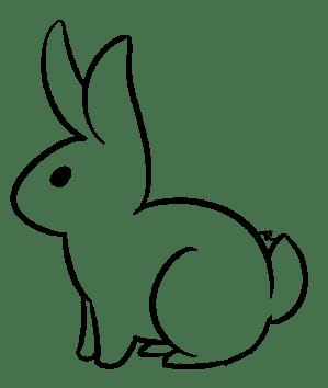 bunny rabbit drawing line base easy uluri getdrawings clipartmag