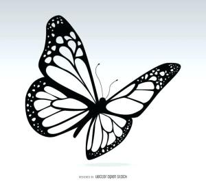 butterfly drawing easy draw simple drawings butterflies step tattoo pretty clipartmag