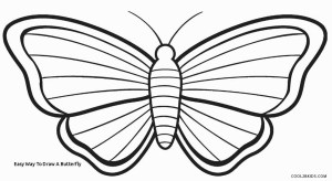butterfly easy drawing draw way clipartmag