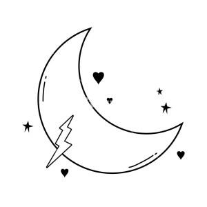 moon cartoon drawing stars graphic clipartmag