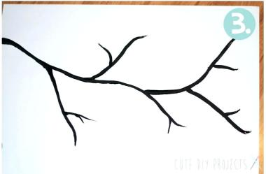 Cherry Blossom Tree Drawing Outline Free download on