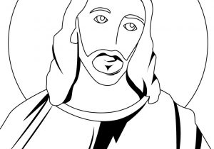 jesus drawing christ step face easy draw clipartmag drawings paintingvalley