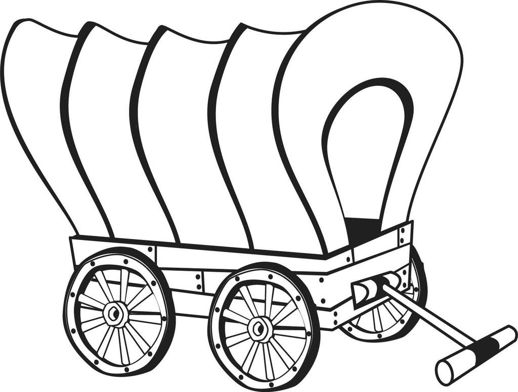 Stagecoach Wagon Wheel Coloring Coloring Pages