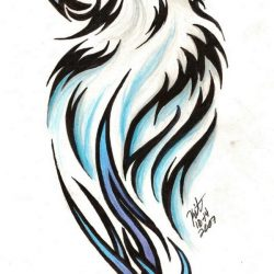 cool wolf drawings free