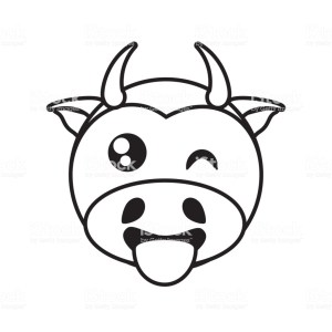 cow drawing simple outline pencil coyote cartoon face clipart side clipartmag
