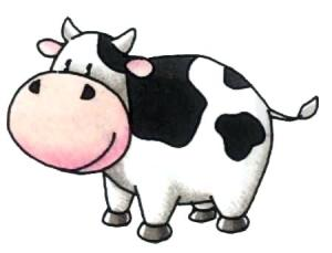 cow drawing simple cartoon draw clipartmag