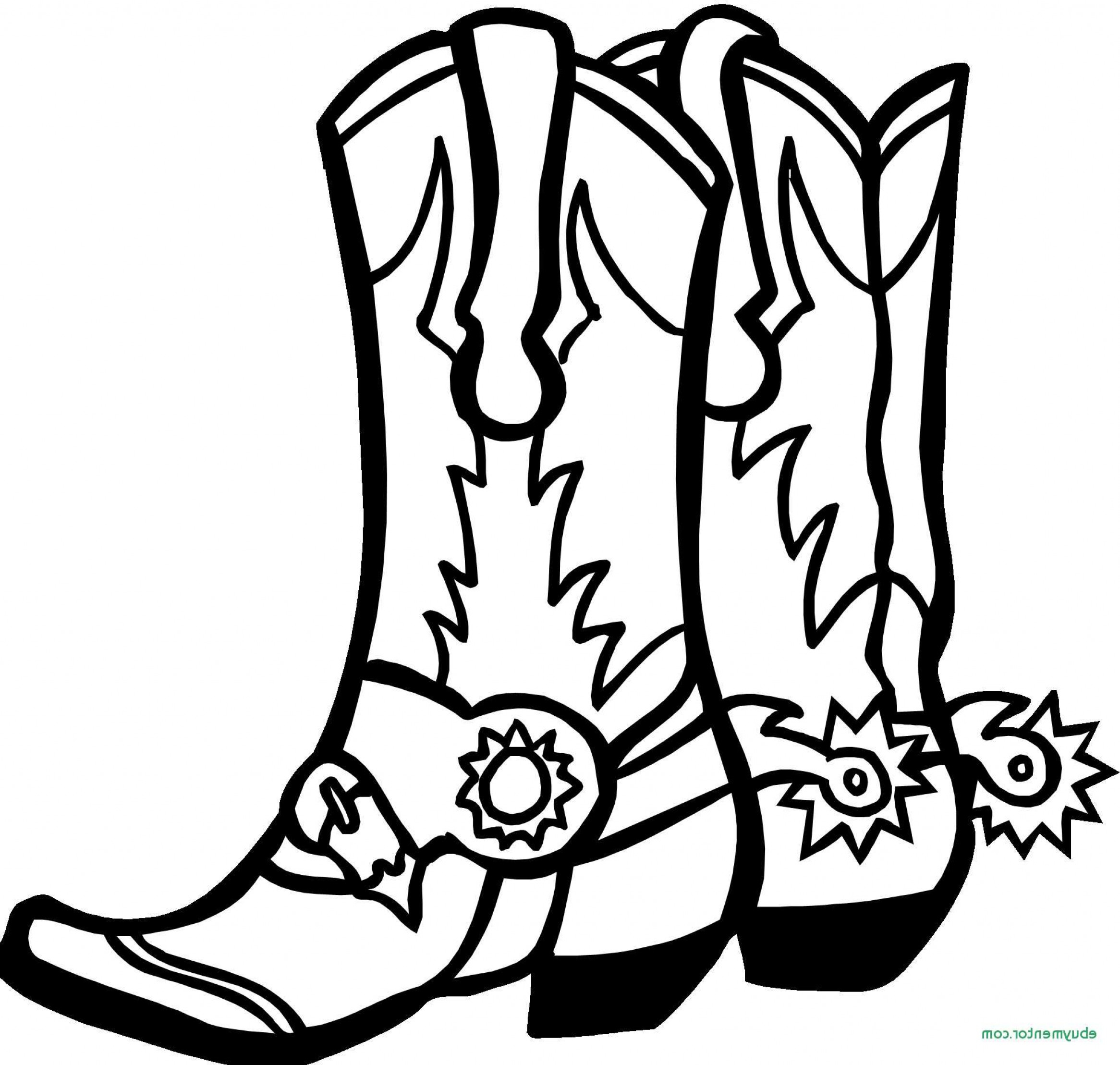 Cowboy Boots And Hat Coloring Pages : Kids Play Color | Cowboy ... | 2217x2332