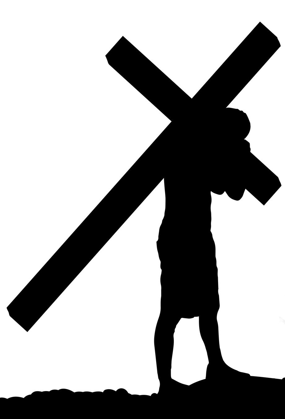 medium resolution of 920x1352 photos stations of the cross clipart drawings art gallery