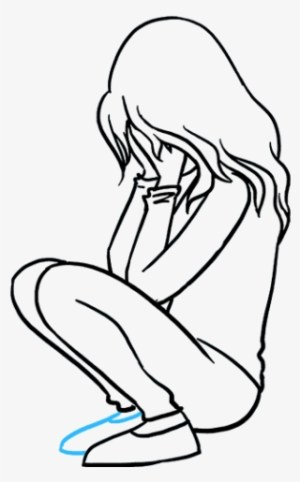 crying sad drawing depressed lady easy drawings pencil depression depressing clipartmag realistic sketch creative