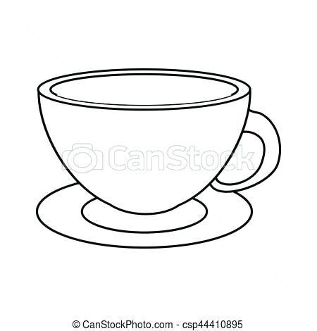 cup and saucer drawing