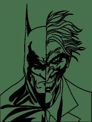 joker batman drawing outline drawings clipart draw half transparent quinn harley outlines clip jokers baseball coloring cool comic bat clipartmag