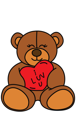 teddy bear drawing draw easy drawings step valentines valentine simple illustration clipart clipartmag transparent clip discover
