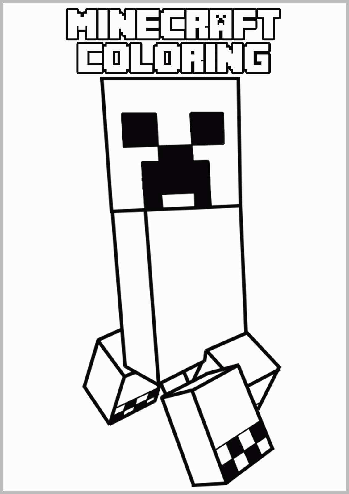 Coloriage Pixel Minecraft