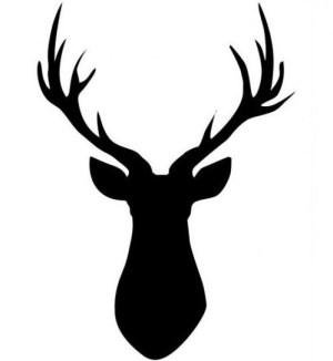 deer drawing drawings simple draw head easy outline pencil mule whitetail skull tutorial heads clipartmag antler elk horns