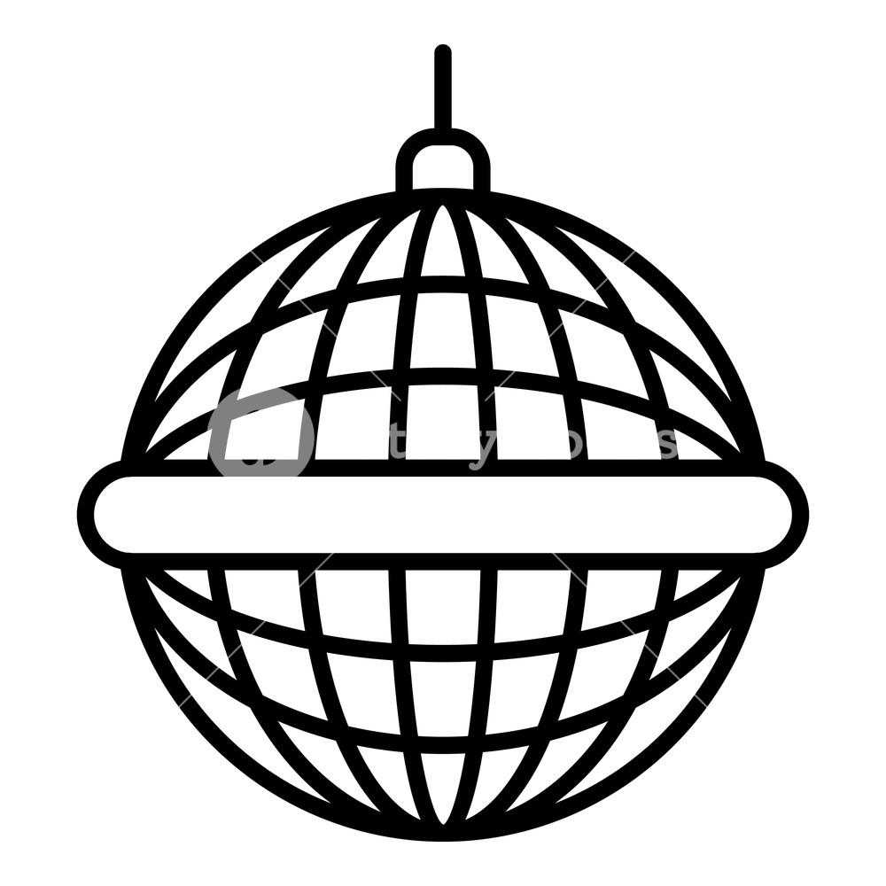 medium resolution of 1000x1000 disco mirror ball icon outline disco mirror ball vector icon
