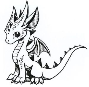 dragon drawing easy drawings clipartmag