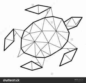 shapes geometric using drawing lion animals draw aquatic clipartmag