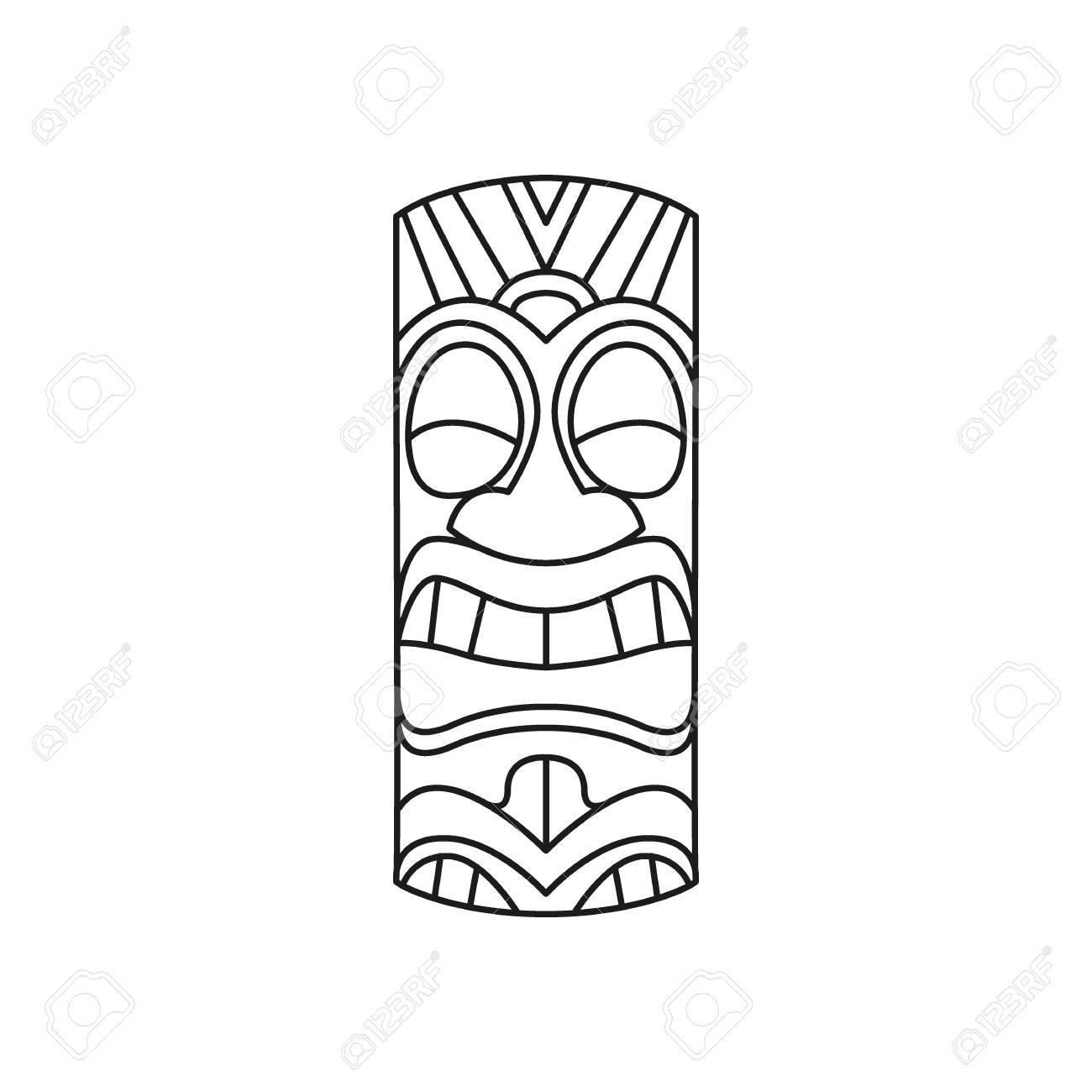 Eagle Totem Pole Drawing