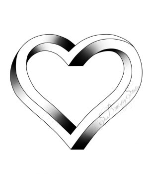 heart drawing easy hearts broken line floating clipartmag hole human