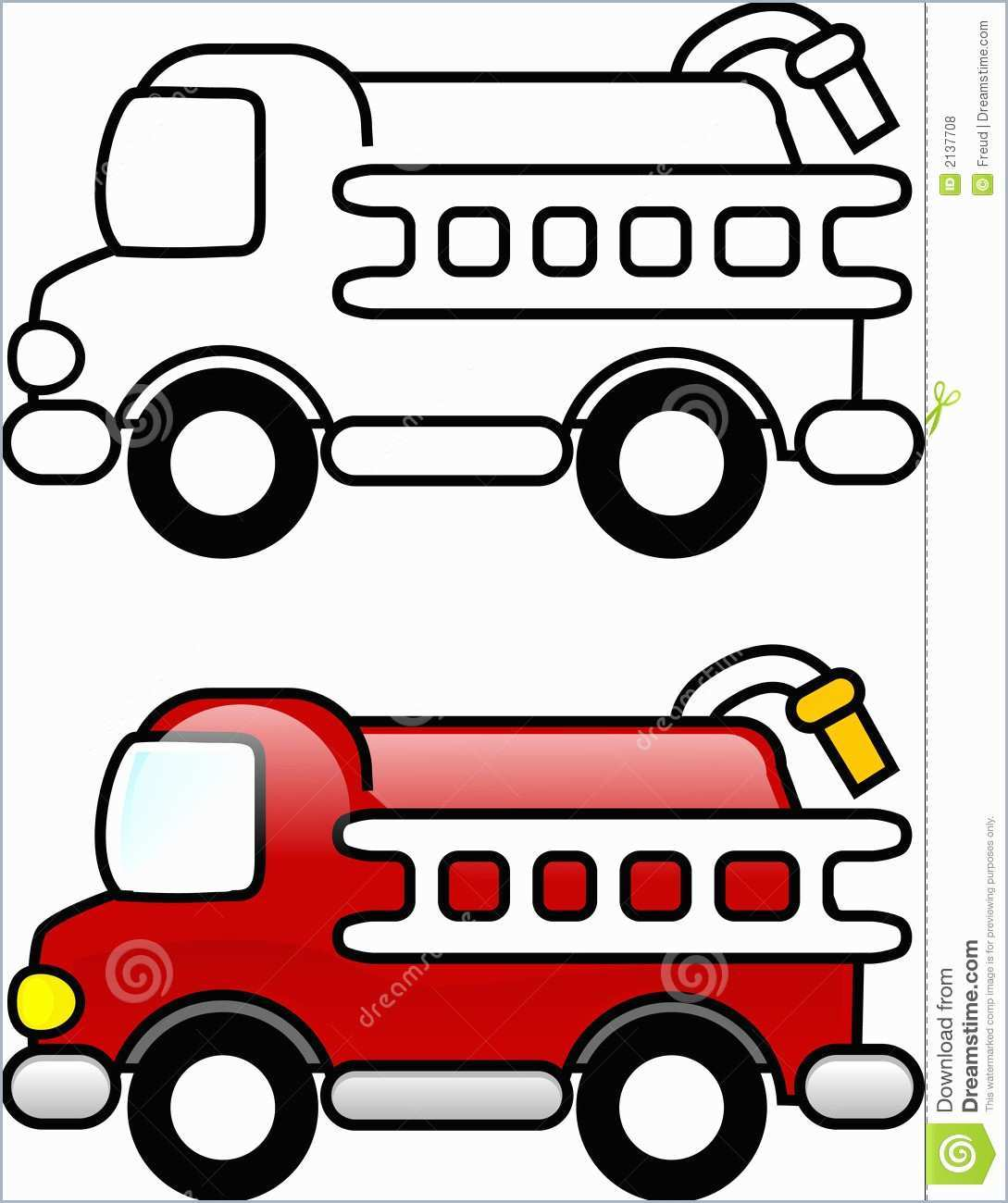 Easy Fire Truck Drawing