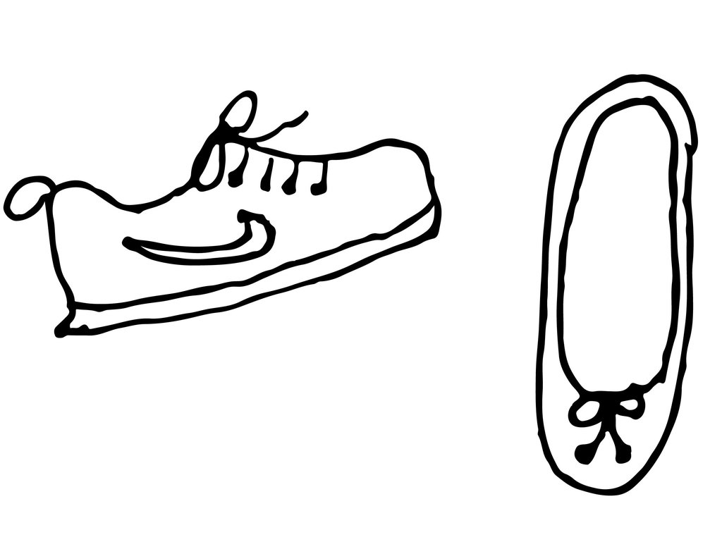 Easy Shoe Drawing   Free download on ClipArtMag