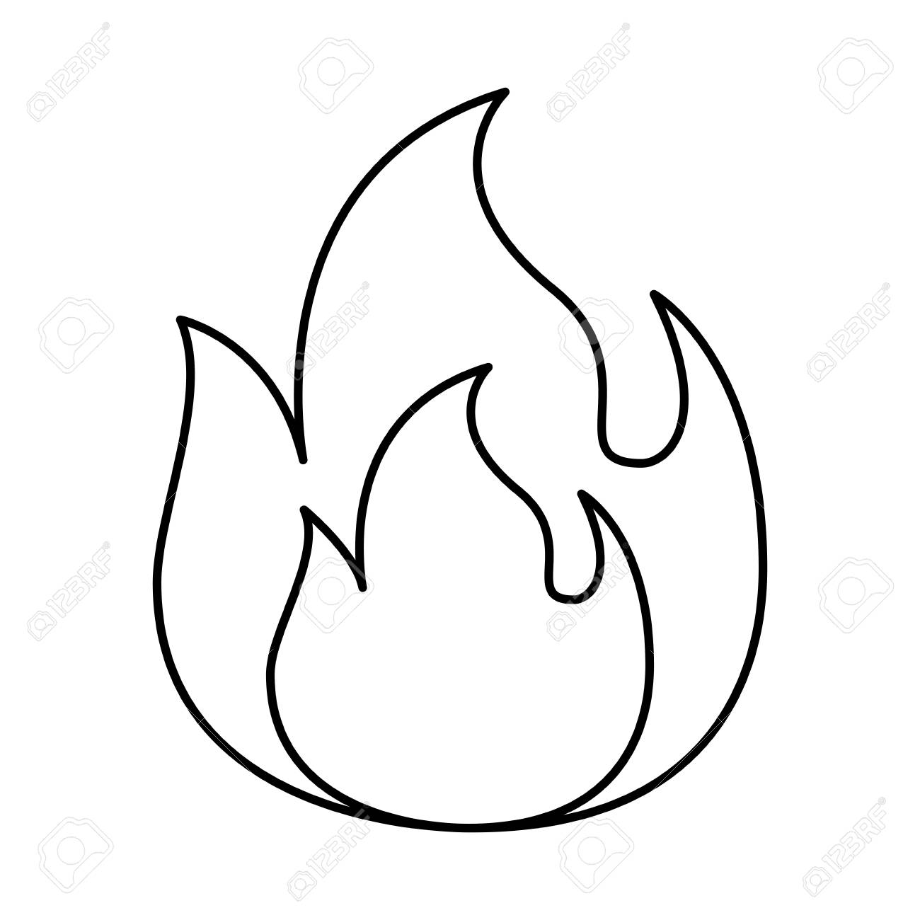Flame Line Drawing