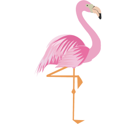 flamingo drawing outline free
