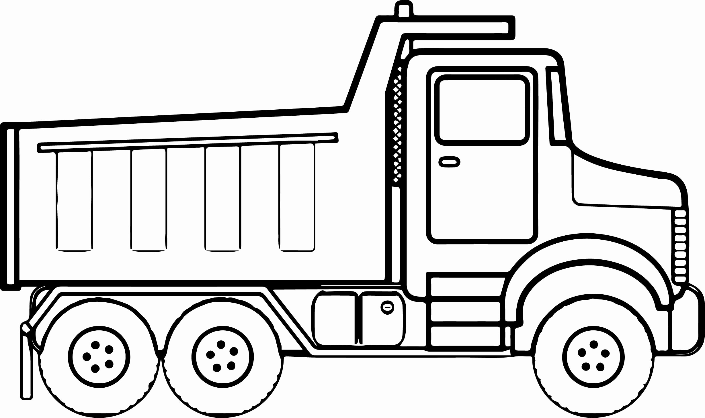 Flatbed Truck Drawing