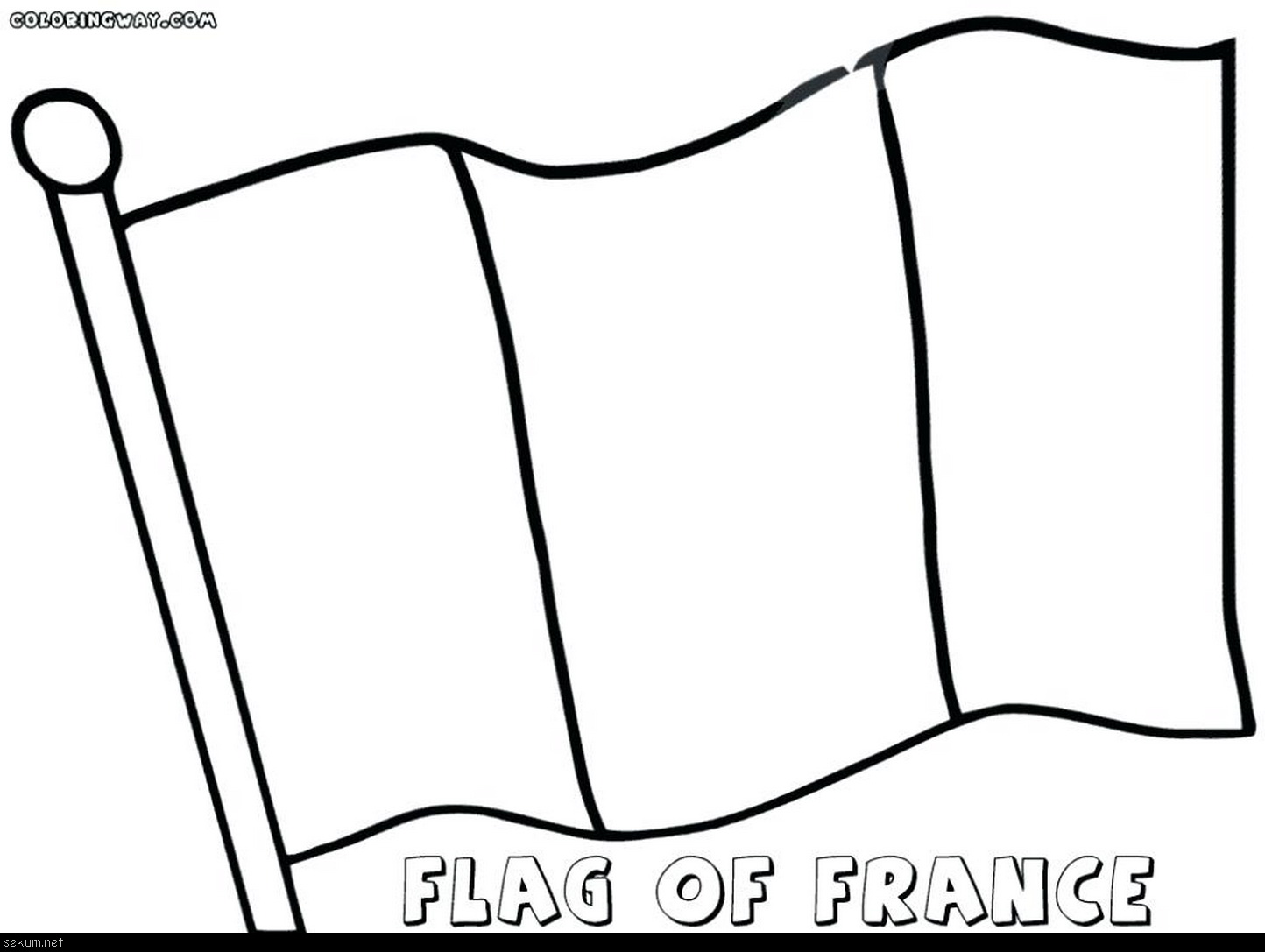 French Flag Drawing