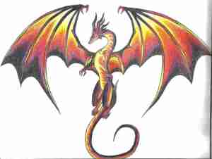 dragon drawing easy mythical awesome clipartmag