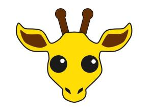 giraffe drawing head easy funny drawings clipartmag paintingvalley