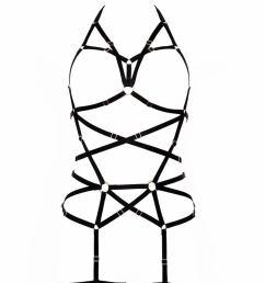 794x1191 longline black harness full body black harness garter belt etsy [ 794 x 1191 Pixel ]