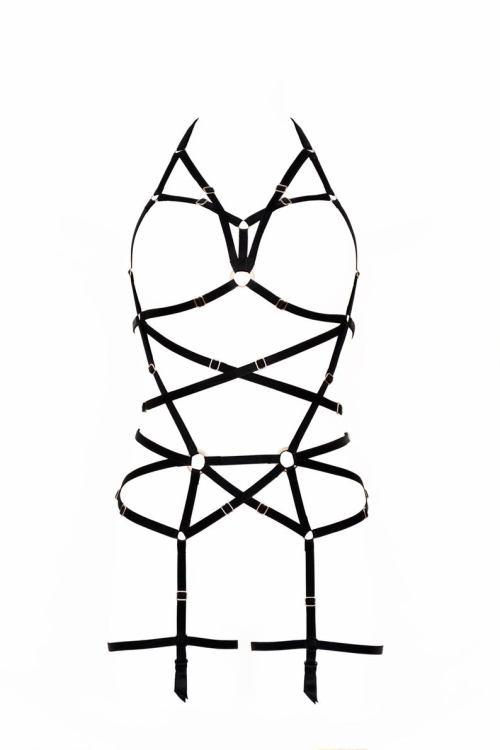 small resolution of 794x1191 longline black harness full body black harness garter belt etsy