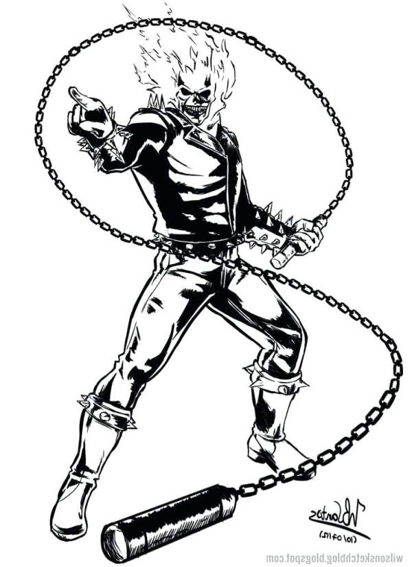 ghost rider coloring pages # 68