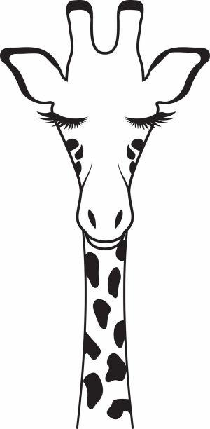 giraffe drawing silhouette clipart drawings glasses animal stencils cool painting lamp shades girraffe coloring pattern transparent neat clipartmag girrafe jirafa