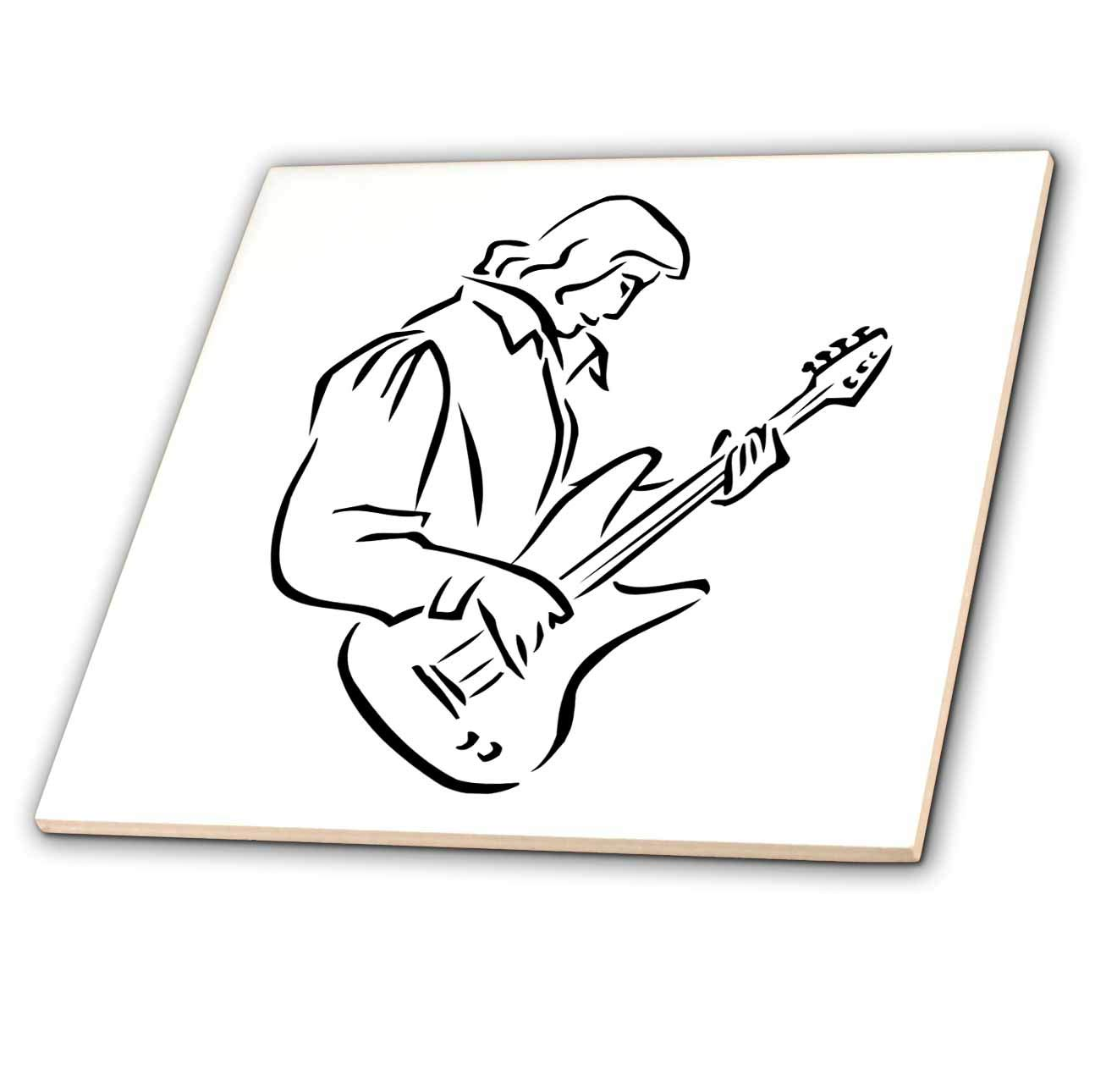 Guitar Drawing Outline
