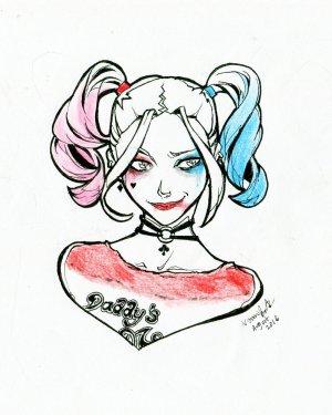 harley drawing joker quinn simple suicide squad momijigirl anime drawings easy draw pencil batman deviantart fanart fan
