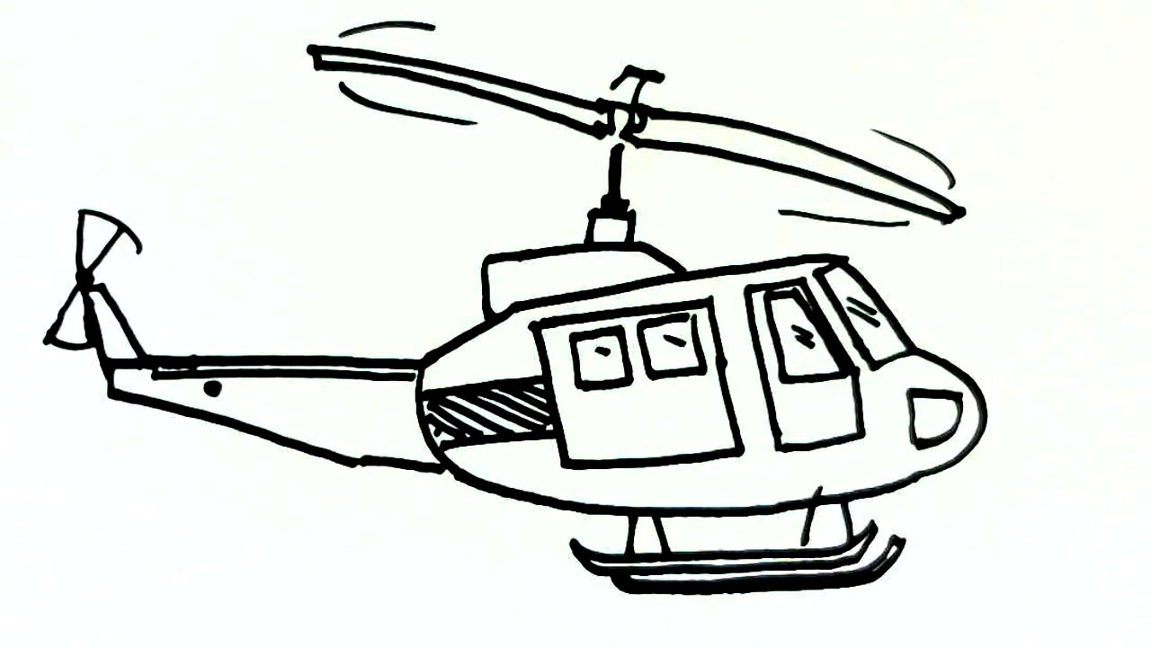 hight resolution of 1280x720 helicopter drawing for kid and helicopter drawing easy helicopter