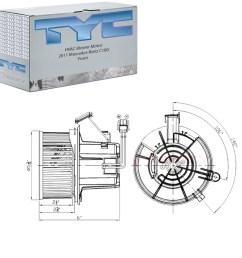 1200x1200 tyc frontal hvac motor del ventilador para mercedes benz [ 1200 x 1200 Pixel ]