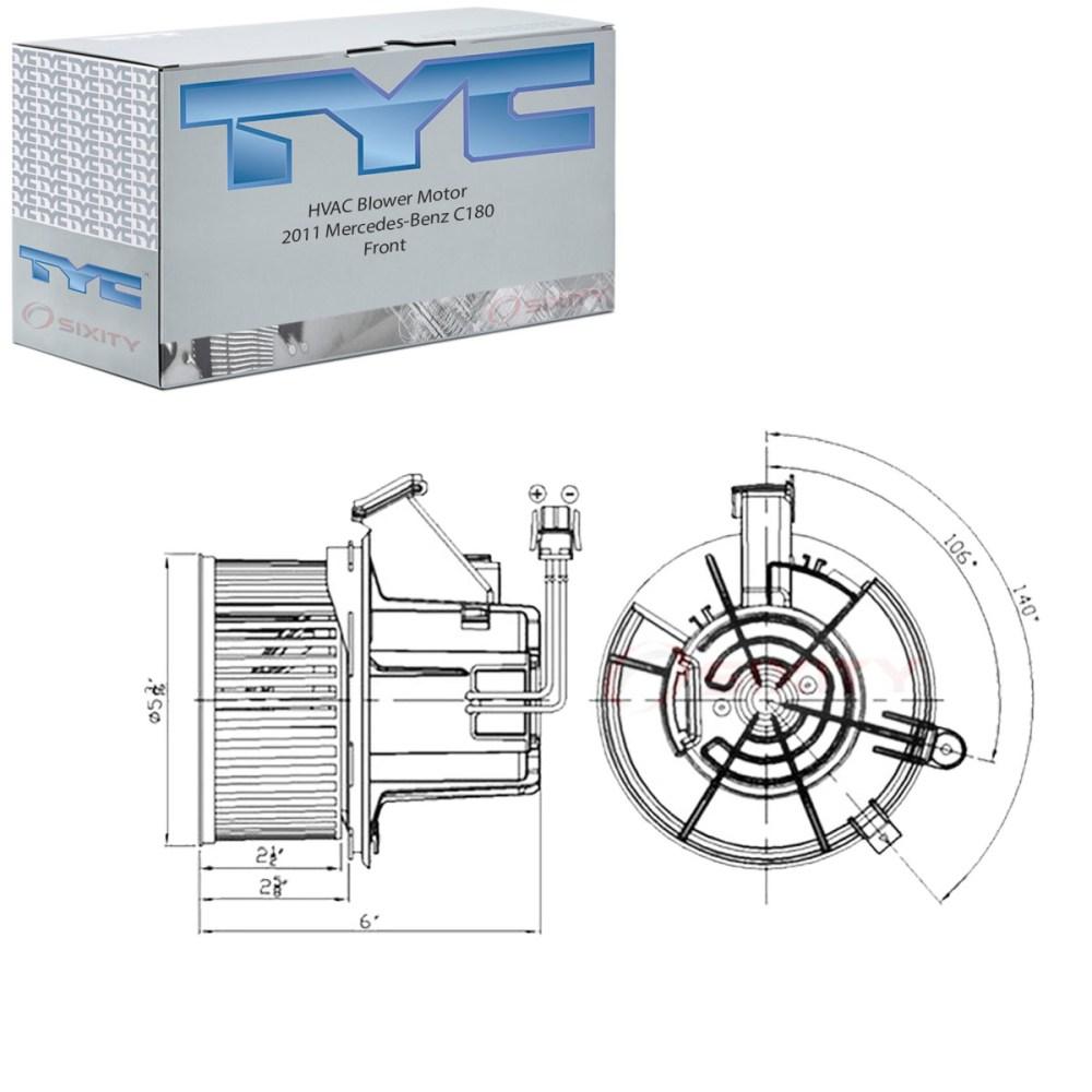 medium resolution of 1200x1200 tyc frontal hvac motor del ventilador para mercedes benz