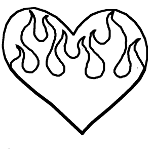 hearts drawing sketch heart drawings simple flames flame clip impossible king clipartmag clipart pixilart detailed kindpng