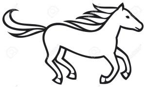 horse easy drawing simple drawings horses indian running clipartmag getdrawings