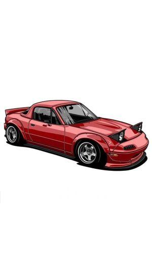 drawings jdm cars miata modified realistic mazda clipartmag coreldraw custom