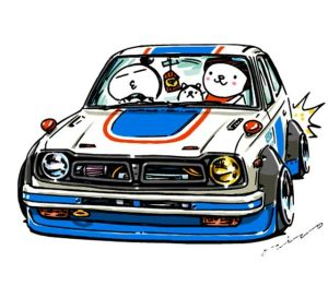 jdm crazy drawings cars ozizo cartoon drawing mame civic japanese illustration cool weird artwork characters painting stickers animation line clipartmag