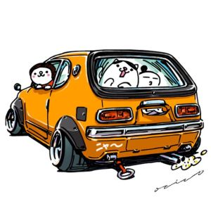drawings ozizo jdm crazy cars illustration mame cartoon honda line イラスト japanese clipartmag weird stickers automotive sticker deviantart