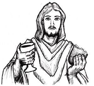 jesus drawing christ easy nativity earth clipartmag