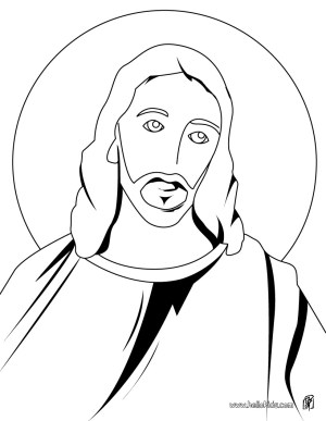 jesus christ drawing easy draw step clipartmag